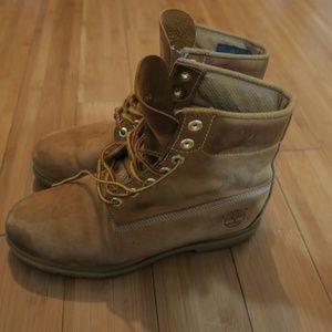 """Timberland Basic 6"""" Waterproof Boots Wheat Nubuck"""